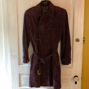 New Terry Lewis Women's purple suede coat Small